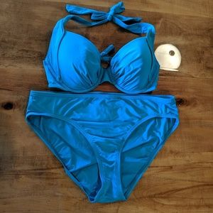 Tommy Bahama bikini turquoise large 36C